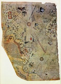 The Piri Reis Map is a world map compiled in 1513 from military intelligence by the Ottoman admiral and cartographer Piri Reis (pronounced [piɾi ɾeis]). Approximately one third of the map survives; it shows the western coasts of Europe and North Africa and the coast of Brazil with reasonable accuracy. Various Atlantic islands, including the Azores and Canary Islands, are depicted, as is the mythical island of Antillia and possibly Japan.  The historical importance of the map lies in its…