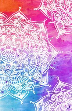 White Mandala on Watercolour Canvas Print More