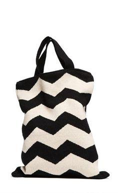 zig-zag bag - $32! adore adore adore this store. can't get enough black & white or chevron