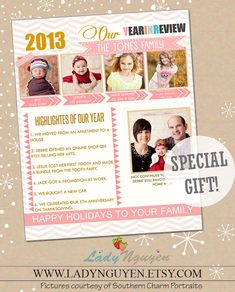 Christmas Newsletter Template Free Download  Craig Sicilia