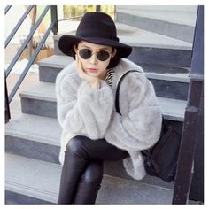 New Women Faux Fur Coats Korean Clothes Winter Thick Cardigan Warm Artificial Mink Fur Bat Slim Ladies Long Trench Coat -*- AliExpress Affiliate's buyable pin. Click the VISIT button to enter www.aliexpress.com #Women'strench coats