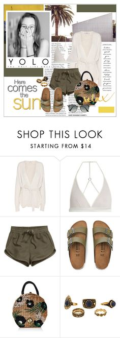 """""""youthful"""" by stylemeup-649 ❤ liked on Polyvore featuring Helmut Lang, Fleur of England, H&M, Paul Frank, Birkenstock, Maison Michel, WALL and Ray-Ban"""