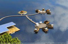 Un village entier de maisons flottantes. C'est le concept un peu fou qu'Aquashell a décidé de mettre en avant et de proposer aux professionnels du tourisme. Un pari pour l'habitation de demain