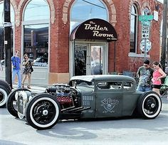 Big block Rat Rod, chopped and channeled.