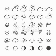 ベクトルアート : Weather icons