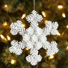 Pinecone Snowflake Ornament $5.56 SALE $6.95 REG
