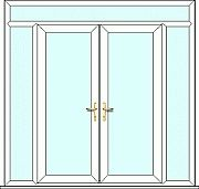French Door with side panels and top light, fully made to measure. Design, quote and order online easily with Just Value Doors today. External French Doors, Upvc French Doors, Doors Online, Side Panels, Quote, Top, Design, Home Decor, Quotation