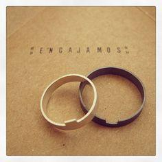 Anillos que encajan para parejas que encajan! plata de ley ella & palta de ley con patina  -color negro- el. #mamalulajewels
