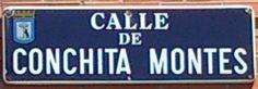 Calle de Conchita Montes. Distrito Hortaleza. Madrid.