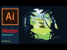 Creating a Vector artwork with Patterns in Adobe illustrator - Fast Draw - YouTube