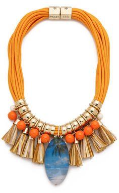 Holst + Lee On The Beach In Hawaii Necklace - Orange Multi in Orange (Orange Multi)