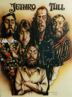 Tull Band Cartoon