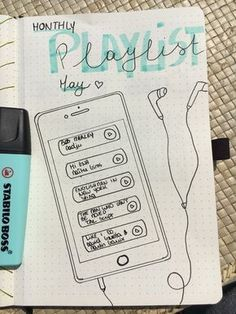 20 Gorgeous Bullet Journal Spreads - - A list of 20 inspirational bullet journal spreads to help you stay motivated, positive, and organized. Find beautiful bullet journal ideas to try here. Bullet Journal School, Bullet Journal Doodles, Journal D'inspiration, Bullet Journal Spreads, Bullet Journal Notebook, Bullet Journal Layout, Bullet Journal Inspiration, Bullet Journals, Music Journal