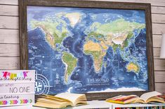 106 Best World Map Push Pin Framed Maps GeoJango Maps images