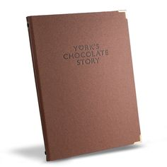 Laminated paper menu cover personalised for a Chocolaterie