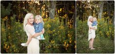 gorgeous mom and little girl, family photo session outside at sunset