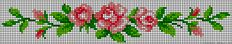 Rose flowers perler bead pattern