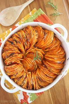 Crispy Roasted Rosemary Sweet Potatoes..I think I'm going to make these sweet and with out the shallots.