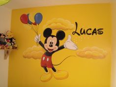 Mickey Mouse Mural www.custommurals,co.uk