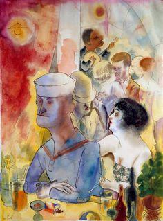 George Grosz. Matrose im Nachtlokal