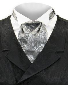 Silk Puff Tie - Gray, Gentleman's Emporium, Item: 002912 $29.95