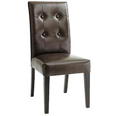 Brown leather dining chairs from Pier 1 - $120 each.
