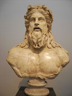 River Deity , part of fountain from Rome (2nd century AD) - Naples Archaeological Museum