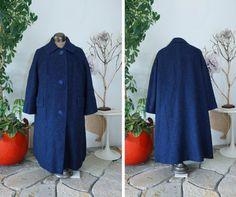 Vintage Women's 1960's Saphire Blue Jacket/ by LesSoeursVintage