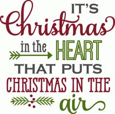 Silhouette Design Store - View Design #71901: christmas in the heart - phrase