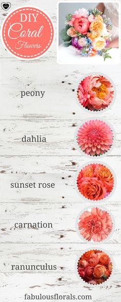 Coral and Peach Flower Wedding Trends! Like the coral and yellow combination!
