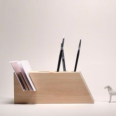 Schreibtisch-Organisator festgelegt hölzerne von TheBirdOnTheTree