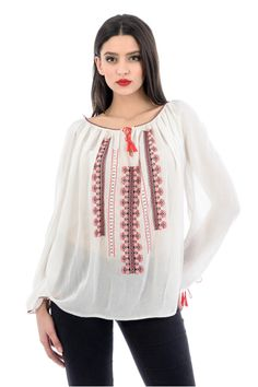 Ie stilizata cu maneca lunga RL0234 My Style, Romania, Blouse, Long Sleeve, People, Sleeves, Clothes, Collection, Country