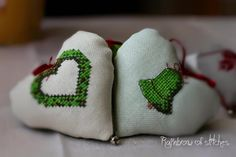 Rainbow of Stitches: Christmas Bell and Hearts