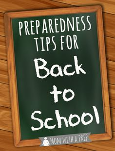 Mom with a PREP | Have you thought about common Preparedness  Safety Tips you need to have planned about before the school year starts?