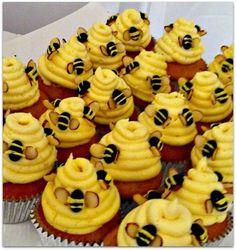 adorable bumble bee cupcakes