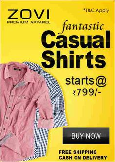 #MyDiscountOffer by ZOVI New Arrivals: Regular Fit Shirt With Modified Buttoned #ClassicPocket Price: Rs 799 Choose from a wide range of Vibrant colors and designs for a Stylish #Casual Look. Hurry, Sizes are selling out fast!  Click here for your purchase ->-