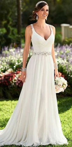 Cheap dresses for the elderly, Buy Quality dresses dropship directly from China dress batwing Suppliers: Brautkleid Stunning Sweetheart Lace Beaded Ruffles Organza Vintage Ball Bridal Gowns Chapel Train Bride Princess Wedding Casual Wedding, Wedding Attire, Wedding Gowns, Wedding Summer, Summer Weddings, Lace Wedding, Bohemian Wedding Dresses, Bridal Dresses, The Bride