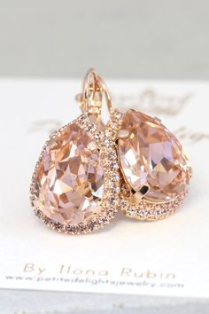 Check out this item in my Etsy shop https://www.etsy.com/il-en/listing/236614073/blush-drop-earringsblush-rose-gold