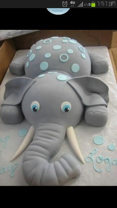 Baby boy cake I think its perfect for turning 6 months