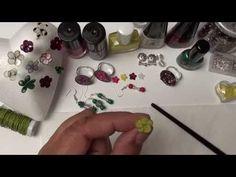 Anleitung Bastel Idee mit Nagellack, Blume aus Draht , Modeschmuck Ring - YouTube