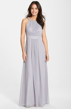 Eliza J Embellished Chiffon Gown (Regular & Petite) available at #Nordstrom-$188.00