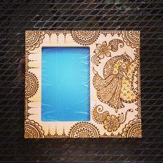 6x4 inch Wood Frame Henna Mehendi Mehndi with by NewWorldHenna, $32.00