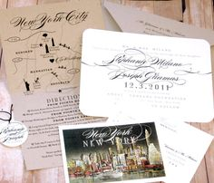 new orleans.  Vintage Travel Wedding Invitation by LetterBoxInk on Etsy