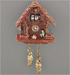 Black Forest Cuckoo Clock | Mary's Dollhouse Miniatures