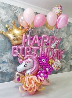 Birthday Celebration Girls Party Themes Ideas For 2019 Unicorn Birthday Parties, Unicorn Party, Birthday Celebration, Birthday Party Themes, 21 Birthday, Birthday Balloon Decorations, Birthday Balloons, Photos Booth, Balloon Gift