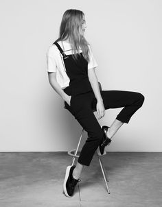 Straps with snaps dungarees - null - Bershka United Kingdom