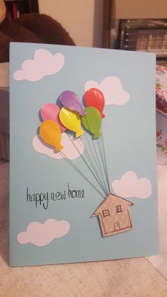 Handmade diy card new home !!