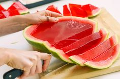 Watch the full video here: | Here's How To Make XXL Watermelon Jell-O Shots