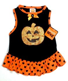 FREE GIFT XS S M Halloween SPARKLY PUMPKIN Dog Dress Pet Clothes Puppy Costume in Pet Supplies, Dog Supplies, Clothing & Shoes | eBay
