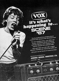 "The VOX Showroom - JMI Vox 1967 Magazine Ad - ""It's What's Happening to Scene '67"""